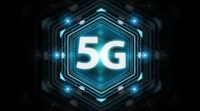 representación del interfaz de red 5G 3D Fotos de archivo