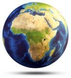 Representación del mapa 3d de la esfera de la tierra Imagen de archivo libre de regalías