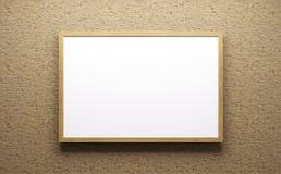 Representación del marco de madera 3d stock de ilustración