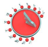 Representación del reloj de sol 3d Foto de archivo libre de regalías