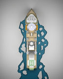 Representación del rompehielos 3d Imagenes de archivo