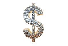 Representación del símbolo 3d de USD aislada en un fondo blanco Imagen de archivo