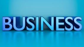 Representación del texto 3d del negocio stock de ilustración