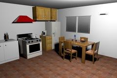 Representación del viejo estilo kitchen-3d Imágenes de archivo libres de regalías
