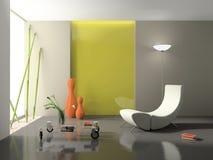 Representación elegante del interior 3D Imágenes de archivo libres de regalías
