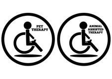 Representación esquemática de una persona discapacitada en los wi de una silla de ruedas stock de ilustración