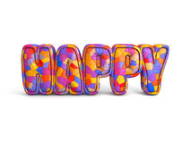 Representación feliz de la letra 3d Imagenes de archivo