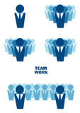 Representación gráfica del trabajo en equipo imagen de archivo