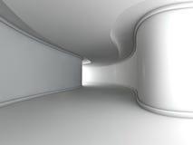 Representación grande ligera vacía del pasillo 3D Imagen de archivo libre de regalías