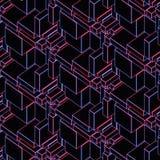 Representación moderna abstracta del fondo 3d del alambre que brilla intensamente Imagen de archivo libre de regalías