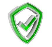 Representación moderna del antivirus 3D del escudo de los datos digitales Foto de archivo libre de regalías