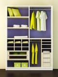 Representación moderna del armario 3d Fotos de archivo