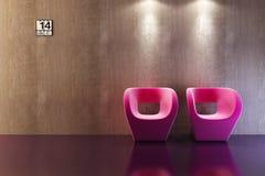 Representación moderna del sofá 3D Imagen de archivo libre de regalías
