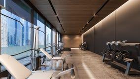 Representación moderna gimnasio/3D Imagen de archivo