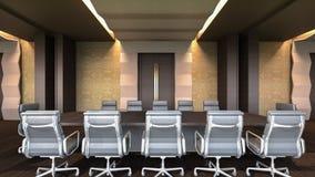 Representación moderna sala/3D de reunión Foto de archivo