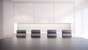 Representación moderna sala/3D de reunión Fotos de archivo
