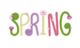 Representación mullida del aislante 3D de las letras de la fuente de la primavera Imágenes de archivo libres de regalías