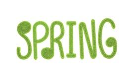 Representación mullida del aislante 3D de las letras de la fuente de la primavera Fotografía de archivo