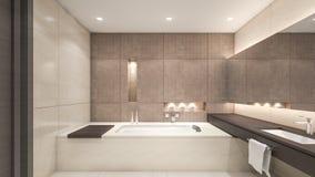 Representación oriental cuarto de baño/3D Imagen de archivo