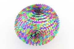 Representación plástica o de cristal transparente colorida 3D Compuesto de stock de ilustración