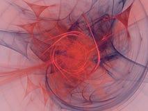 Representación roja ilustración del vector