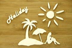 Representación simbólica de las vacaciones Imágenes de archivo libres de regalías