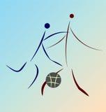 Representación simplificada gráfica del juego del baloncesto Foto de archivo