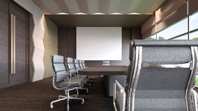 Representación sitio/3D de la reunión de negocios Imágenes de archivo libres de regalías