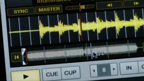 Representación visual audio de la forma de onda de la exhibición metrajes
