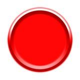 Representación visual del botón rojo Imagen de archivo
