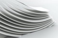representaci?n 3d, superficie de la curva y fondo ligero stock de ilustración