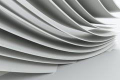 representaci?n 3d, superficie de la curva y fondo ligero ilustración del vector