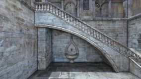 representaci?n de 3D CG del castillo
