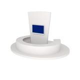 Representación del soporte de la exposición aislada en blanco Imagen de archivo libre de regalías