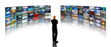 Representaciones visuales de la visión del hombre stock de ilustración