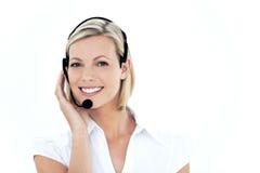 Representaive klanten de dienst stock afbeeldingen
