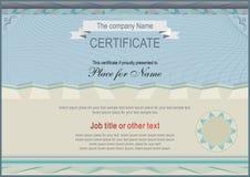 Representant Gray Certificate diplom Representantmellanrum Royaltyfri Foto
