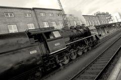 Representante checo de Olomouc 15 de octubre de 2011 Trenes históricos del vapor en el ferrocarril foto de archivo