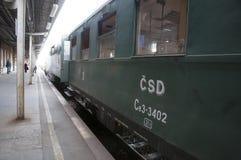 Representante checo de Olomouc 15 de octubre de 2011 Trenes históricos del vapor en el ferrocarril fotografía de archivo libre de regalías