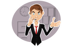 Representante confiável do serviço de atenção a o cliente Fotos de Stock