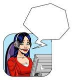 Representante de serviço ao cliente fêmea Imagem de Stock