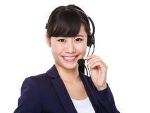 Representante de serviços ao cliente Imagens de Stock Royalty Free