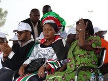Representante de sono das mulheres da oposição em uma reunião Imagens de Stock