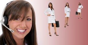 Representante de sorriso bonito do serviço de atenção a o cliente Imagens de Stock