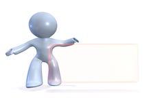 Representante del contacto con la placa de la dirección comercial Imagenes de archivo