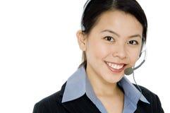Representante del servicio de atención al cliente Imagen de archivo libre de regalías