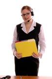 Representante del servicio de atención al cliente Imagen de archivo