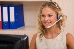 Representante del servicio de atención al cliente Fotos de archivo