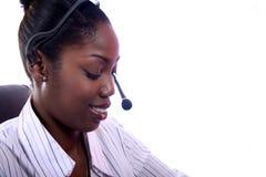Representante del servicio de atención al cliente Imagenes de archivo