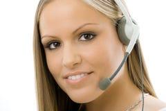 Representante del servicio de atención al cliente Fotos de archivo libres de regalías